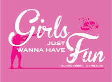 Girls Just Wanna Have Fun T Shirt Mock up